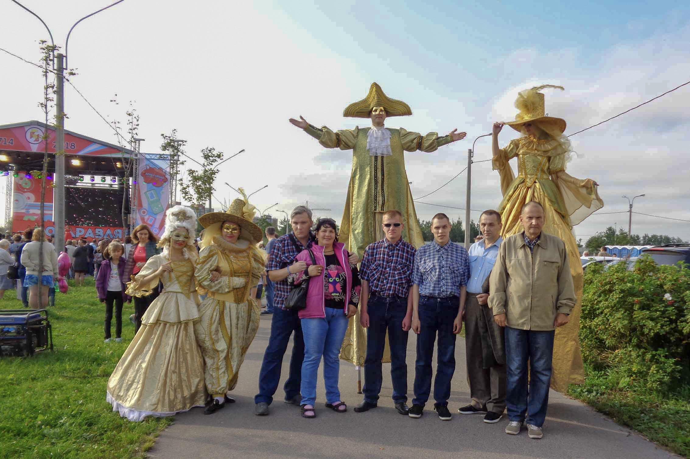 Вместе встретили День города Красное Село