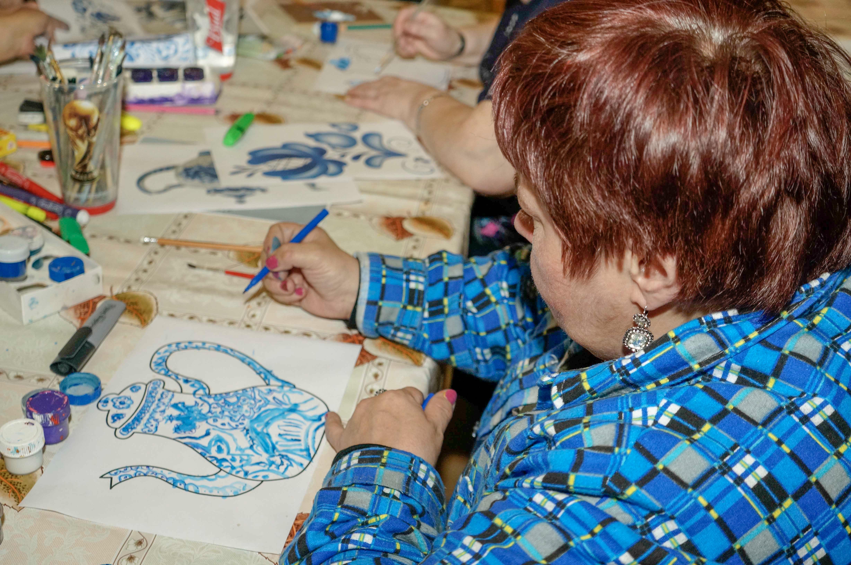 Уроки гжельской росписи